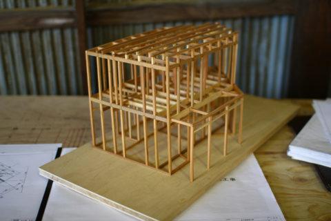 photo: 生駒の家2 軸組打ち合わせ