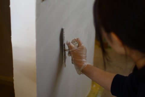 photo: 漆喰塗りDIY