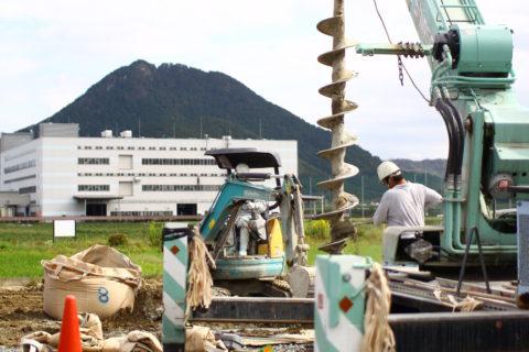 photo: 栗東の家、柱状改良