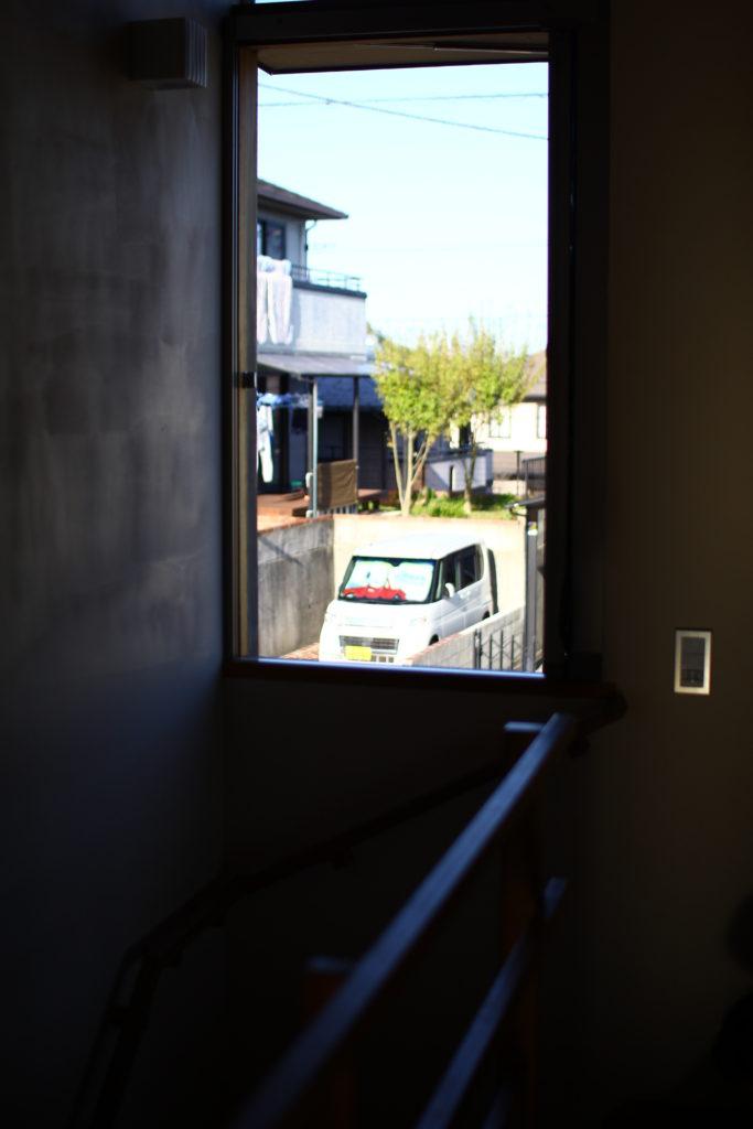 牟礼の家、屋根への入口